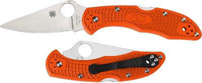 Складной нож Spyderco Delica Knife Flat Ground Orange
