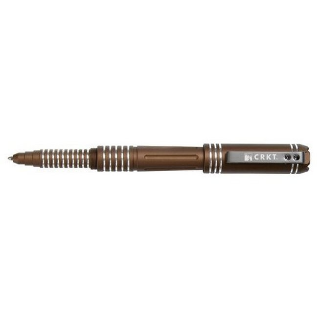 Тактическая ручка Tao Pen™ Brown with Bright Grooves